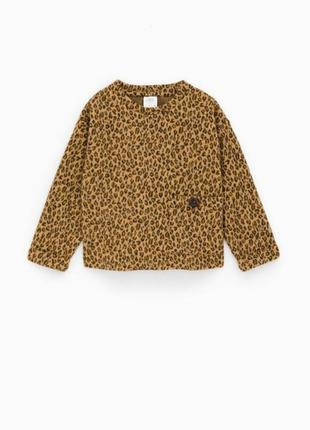 Кофта леопардовий принт zara