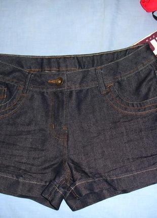 Женские шорты джинсовые размер 46 / 12 темные короткие летние ...
