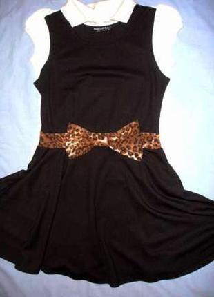 Платье сарафан на девочку в школу рост 146 см 9-11 лет черный ...