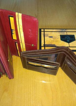 Подарок двоим, брендовые портмоне tony perotti