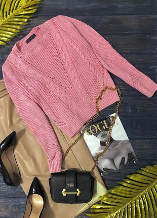 Новая розовая кофта mark & spencer размер м оверсайз