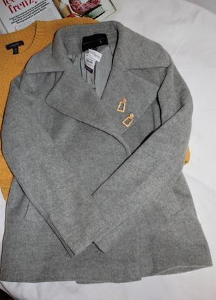 Тепле пальто-бойфренд 50% шерсть