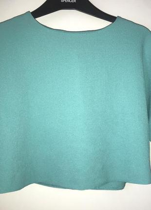 Нарядная блузка топ укорочённая летучая мышь xs s 34 36