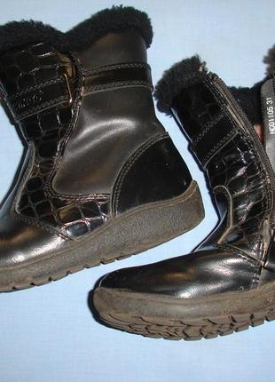 Сапоги зимние размер 30-31 натуральный мех черные детские на з...