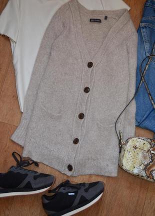 Marc o polo шерстяной мохеровый кардиган свитер кофта серый ка...