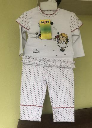 👚👖 костюм 👘 💃для девочки 1-2 года