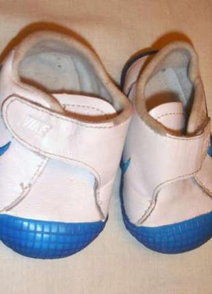Кроссовки nike кожаные стелька 11 см детские девочке мальчику ...