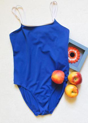 Синий сдельный купальник от marks&spencer, размер xl
