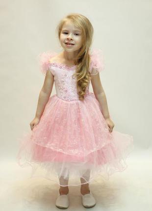 Розовое блестящее платье для малышки - настоящая мечта!