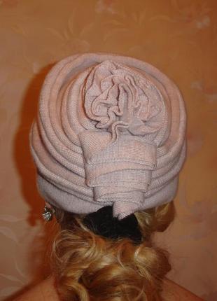 Женская шапка зимняя шапочка размер на окружность 55 см светла...