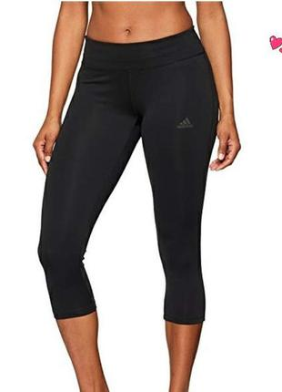 Капри adidas,укороченные лосины спортивные,одежда для фитнеса