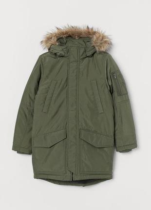 Куртка зимняя удлиненная на мальчика от h&m америка