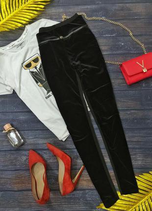 Бархатные брюки размер м