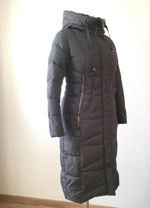 Зимнее длинное пальто пуховик больших размеров Mishele