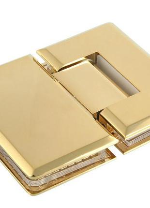 2 петли стекло-стекло  золото