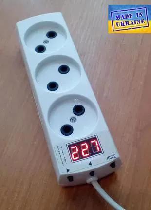 Удлинитель с автоматом защиты (реле напряжения)