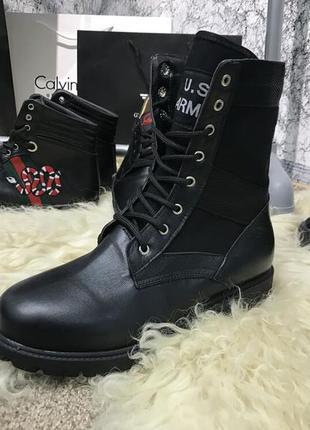 Ботинки boots us army belleville f650 black натуральная кожа