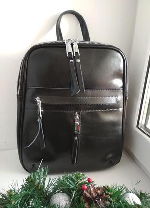 Женский кожаный рюкзак жіночий шкіряний рюкзак