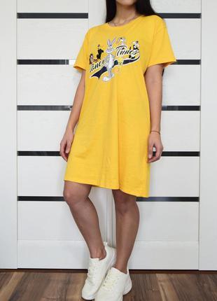 Платье-футболка looney tunes