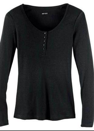Реглан esmara,лонгслив в рубчик с пуговицами,молодежная одежда