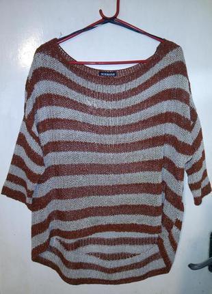 Классная,блуза-джемпер с удлинённой спинкой,большого размера,о...