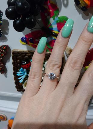 Кольцо серебро камни цирконы цирконий обручальное украшение asos