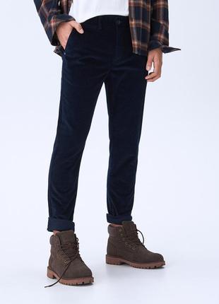 Вельветовые брюки чиносы зауженные chino slim  house m long