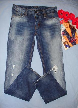 Мужские джинсы размер 44 вареные w28 w 28 с потертостью рваные...