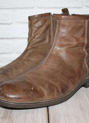 Комфортные кожаные ботинки vagabond 46 размер 100% натуральная...