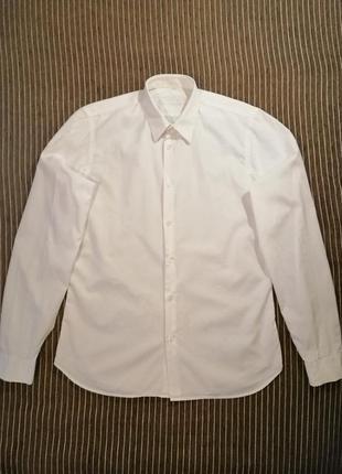 Белая рубашка prada с длинным рукавом оригинал m