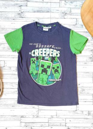 Светящаяся детская футболка minecraft primark