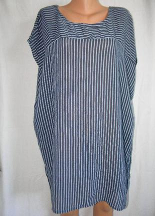 Натуральная блуза в полоску италия