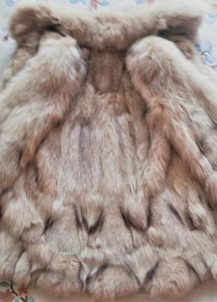 Шуба женская натуральный мех песец