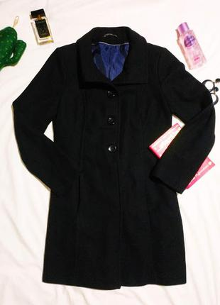 🖤🖤шерстяное пальто jessica (c&a), черное., 36/s/44🖤🖤