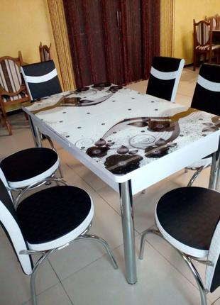 Стол обеденный + 6 стульев.