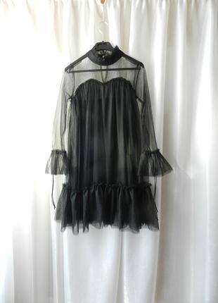 Шикарное платье етка волан