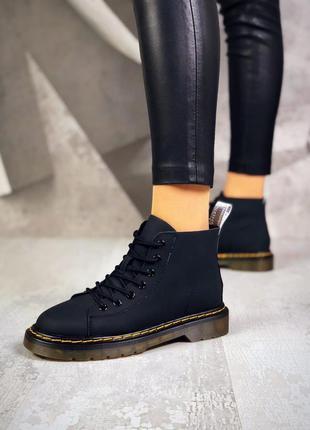 ❤ женские черные весенние демисезонные кожаные ботинки ❤