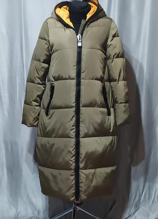 Длинный пуховик , пальто зимнее