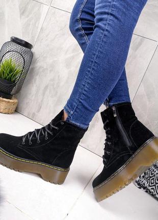 Замшевые демисезонные ботинки мартинсы, dr. martens 36-40р