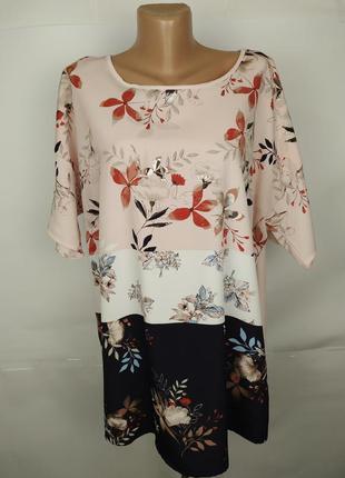 Блуза шикарная комбинированная большой размер marks&spencer uk...