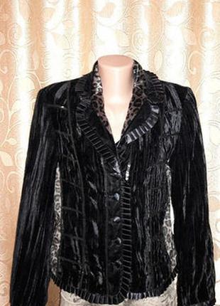 🌺🎀🌺красивый женский черный велюровый, бархатный пиджак, жакет ...