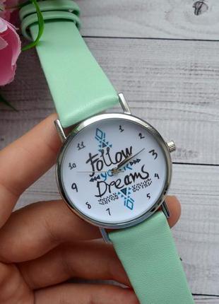 Наручные часы женские follow dreams мятные