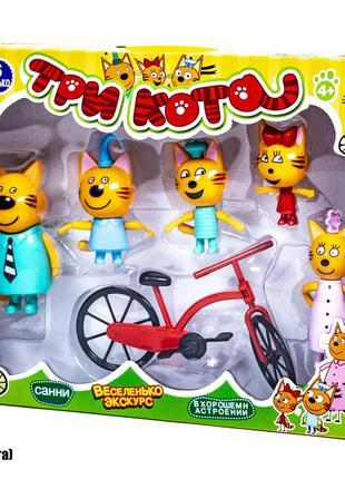 Игровой набор Три Кота + велосипед