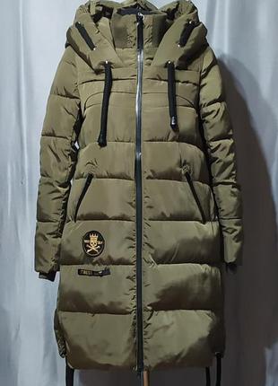 Длинная куртка зимняя, пуховик