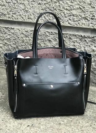 Женская кожаная сумка в стиле celine селин из натуральной кожи...