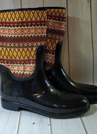 Женские резиновые утепленные сапоги,полусапоги,ботинки