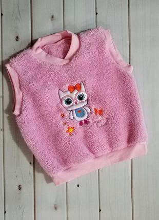 Теплая жилетка для девочки,мягкая приятная к телу,см.описание