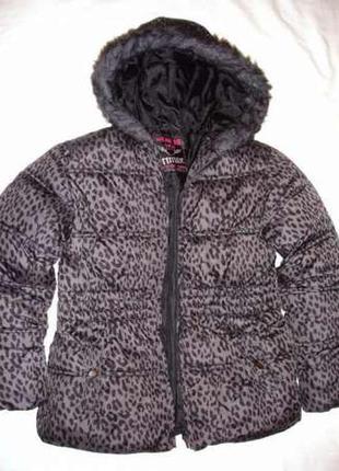 Рост 140-146 см куртка детская серая синтепон утепленная демис...