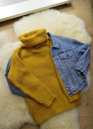 Вязанный яркий свитер