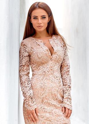 Платье из гипюра с блестками